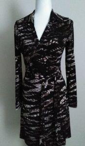 Calvin Klein snakeskin print wrap dress